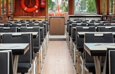 Blue Boat Company Amsterdam | interior canal boat