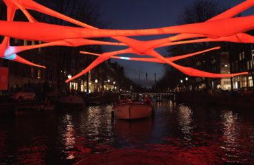 Amsterdam light festival open boot Blue Boat2